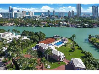 Miami Beach FL Single Family Home For Sale: $34,900,000