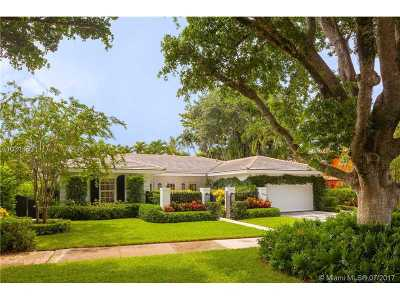 Coral Gables Single Family Home Active-Available: 4206 Monserrate St
