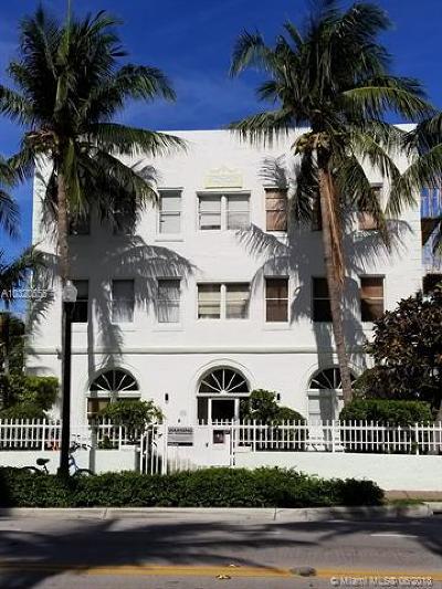Miami Beach Condo For Sale: 802 Euclid Ave #302