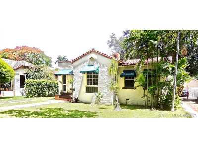 Coral Gables Single Family Home Active-Available: 825 Obispo Ave