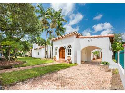 Coral Gables Single Family Home Active-Available: 2508 Madrid St