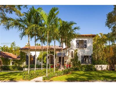 Coral Gables Single Family Home Active-Available: 1319 Castile Ave