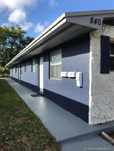 Hallandale Multi Family Home Active-Available: 840 Southwest 10th St