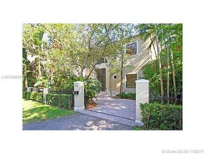 Coral Gables Single Family Home Active-Available: 150 West Sunrise Ave