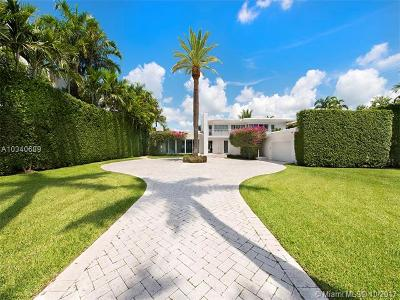 Miami, Miami Beach Single Family Home For Sale: 6410 N Bay Rd