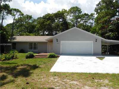 West Palm Beach Single Family Home For Sale: 4721 Coconut Blvd