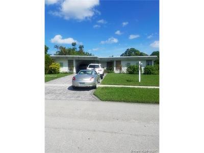 Tamarac Single Family Home For Sale: 7704 NW 73rd Terrace