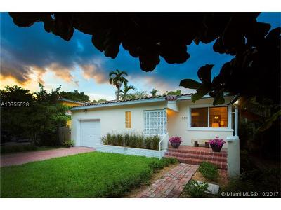 Coral Gables Single Family Home For Sale: 1309 Castile Ave