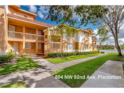 Plantation Condo For Sale: 804 NW 92nd Ave #804