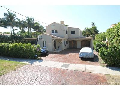 Miami Beach Single Family Home For Sale: 4747 N Bay Rd