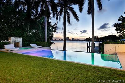 Miami Beach Single Family Home For Sale: 6396 N Bay Rd