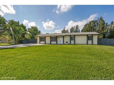 Southwest Ranches Single Family Home For Sale: 5191 SW 188th Ave