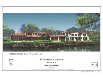 Coral Gables Single Family Home For Sale: 6801 Granada Blvd