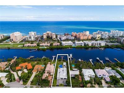 Lantana Single Family Home For Sale: 1126 N Atlantic Dr