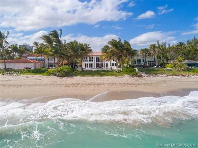 Golden Beach Single Family Home For Sale: 667 Ocean Blvd