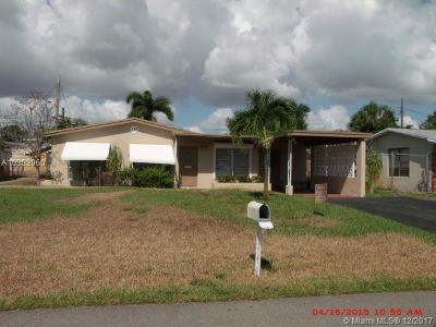 Fort Lauderdale Single Family Home For Sale: 1631 NW 26th Ter