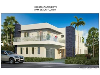 Miami Beach Single Family Home For Sale: 1161 Stillwater Dr