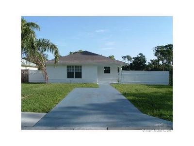 Jupiter Single Family Home For Sale: 6633 4th St