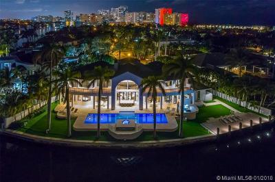 Golden Beach Single Family Home For Sale: 550 N Island