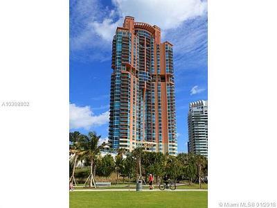 Miami Beach Condo For Sale: 300 S Pointe Dr #405