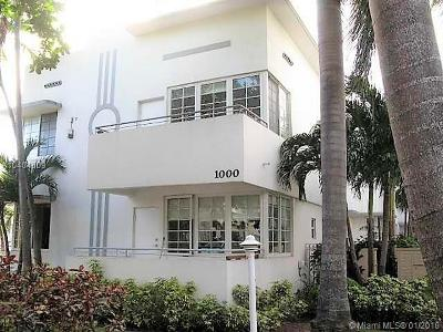 Miami Beach Condo For Sale: 1000 Meridian Av #11