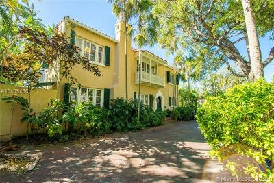 Coconut Grove Single Family Home For Sale: 3614 Bayview Rd