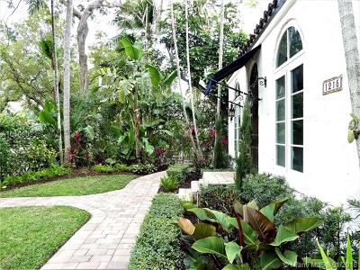 Coral Gables Single Family Home For Sale: 1215 Madrid St