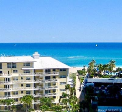 Fort Lauderdale Condo For Sale: 1920 S Ocean Dr #1010