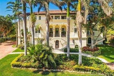 Miami FL Single Family Home For Sale: $6,100,000