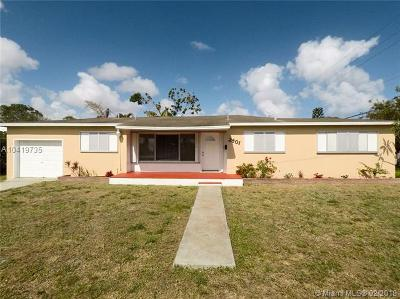 Hollywood Single Family Home For Sale: 2801 Monroe Street