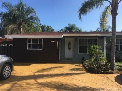 Fort Lauderdale Single Family Home For Sale: 2404 SW 34th Ave