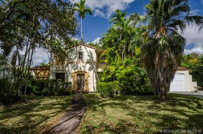 Coral Gables Single Family Home Active With Contract: 1405 Coral Way