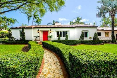 Coral Gables Single Family Home For Sale: 930 Valencia Ave