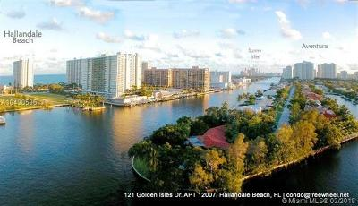 Hallandale Condo For Sale: 121 Golden Isles Dr #1207