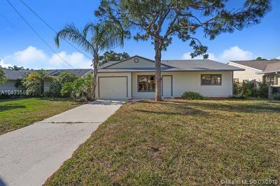 Jupiter Single Family Home For Sale: 6088 Dania St