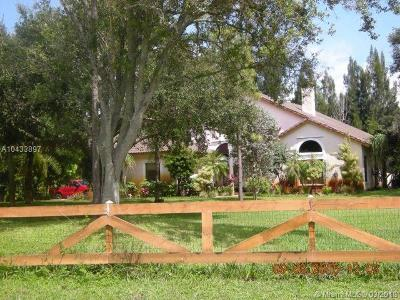 Southwest Ranches Single Family Home For Sale: 17321 SW 59th Ct
