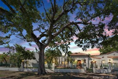Coral Gables Single Family Home For Sale: 2508 Madrid St