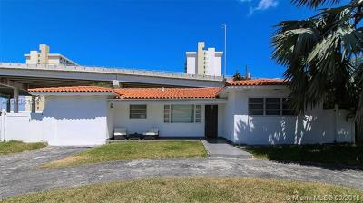 Sunny Isles Single Family Home For Sale: 271 191st Ter