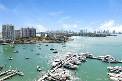 Miami Beach Condo For Sale: 1800 Sunset Harbour Dr #1810