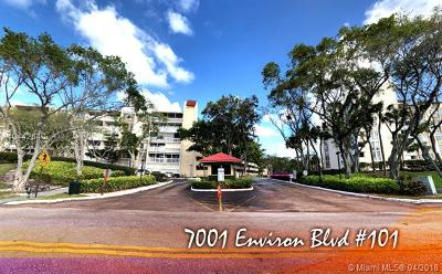 Lauderhill Condo For Sale: 7001 Environ Blvd #101