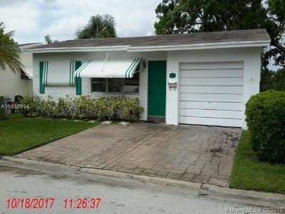 Margate Single Family Home For Sale: 1035 NW 69th Ave