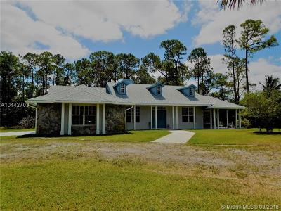 Loxahatchee Single Family Home For Sale: 15808 86th Rd N