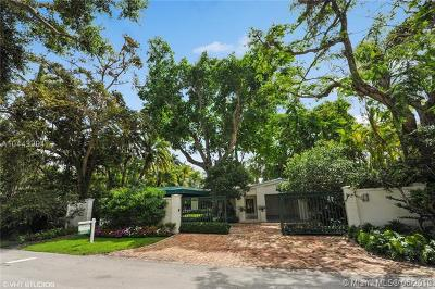 Coconut grove Single Family Home For Sale: 3480 Poinciana Ave