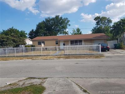 Miami Gardens Single Family Home For Sale: 2250 NW 196th Ter