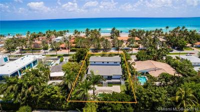 Golden Beach Single Family Home For Sale: 220 Ocean Blvd