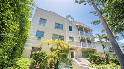 Miami Beach Condo For Sale: 842 Meridian Ave #3F