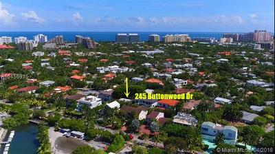 Key Biscayne Single Family Home For Sale: 245 Buttonwood