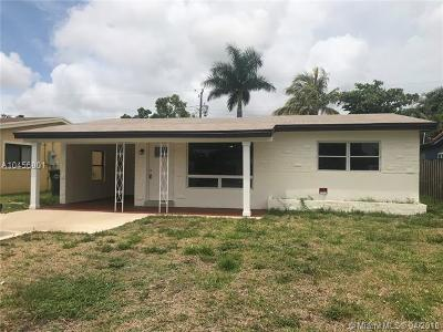 Oakland Park Single Family Home For Sale: 469 NW 48th St
