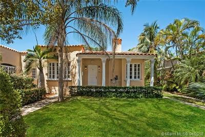 Coral Gables, South Miami Single Family Home For Sale: 617 Navarre Ave