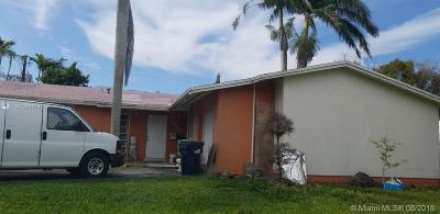Cutler Bay Single Family Home For Sale: 9814 SW 195th St